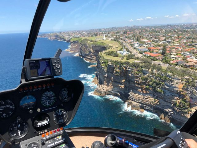 Amazing views of Sydney's southern coast via helicopter