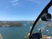 Helicopter flight over the Sydney Harbour Bridge