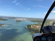 Flying over Sydney Harbour by private helicopter