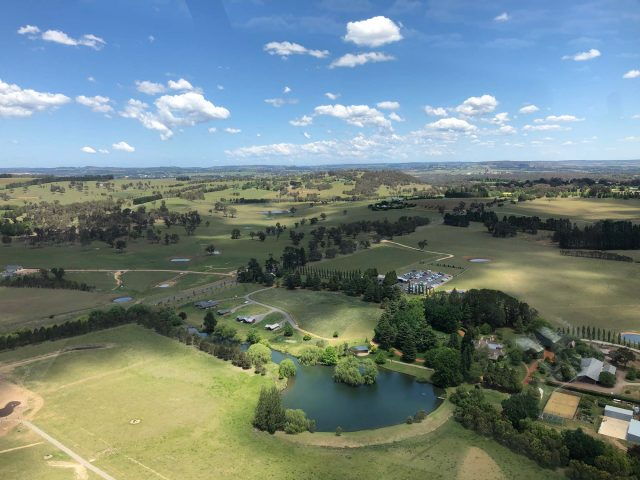 NSW Southern Highlands by helicopter